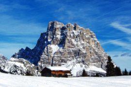 Dolomitas con raquetas de nieve